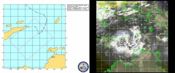TCFA graphic and satellite photo as issued by the JTWC at 2030UTC, 08 May, 2012.